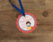 Snow White Party - Set of 12 Personalized Favor Tags by The Birthday House