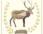 American Elk - New England Wildlife print FREE SHIPPING