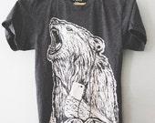 Call of The Wild    unisex Bear t-shirt, wilderness tshirt, wildlife tshirt, camping gear, rugged styled tshirt, guy gifts    by Simka Sol