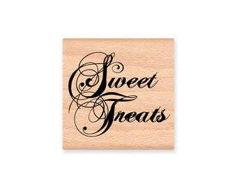 SWEET TREATS - wood mounted Rubber Stamp (mcrs 28-34)