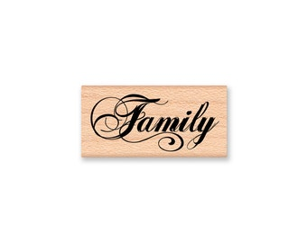 FAMILY-wood mounted Rubber Stamp (mcrs 28-45)
