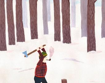 Lumberjack Card // Set of 8