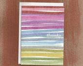 Rainbow Stripes Thank You Cards (8/box)