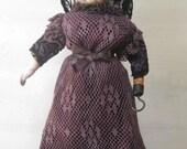 Doll Creepy Scary ooak Halloween gothic  Doll Mary Hook