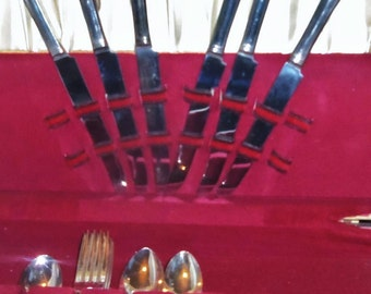 Silverware Flatware set Oneida Gloria El Royale Silver Plate forks Knife spoon 24pcs 1930's