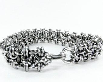 Chainmaille Bracelet - Byzantine Ladder Cuff
