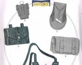 Gauntlet Water Bottle Carrier Pouches Reenactment Cosplay History Butterick 5936 Sewing Pattern Men Misses Accessory Historical