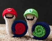 PDF of Super Snail Bros Amigurumi Pattern