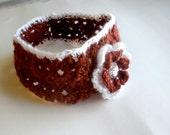 Maroon and White Texas A&M Crochet Headband
