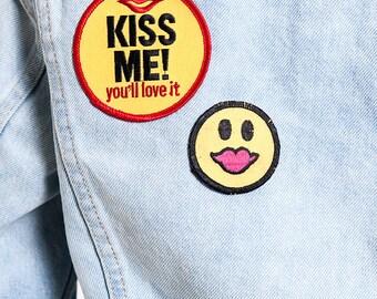 """The Vintage Levi's """"Kiss Me"""" Patched Denim Jacket"""
