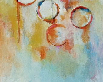 Bubbles 3  - original abstract oil painting 12x16""
