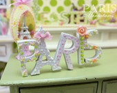 """A """"PARIS"""" Decoration for Spring - Miniature Decoration in 12th Scale"""