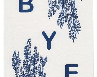 BYE Risograph Print in Large Size