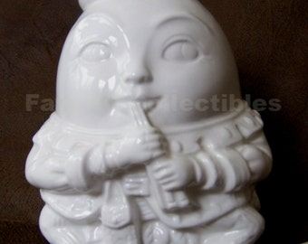 Humpty Dumpty Nursery Lamp White Porcelain Accent Light RARE 1986 Mother Goose Shafford Lite FavoriteCollectibles