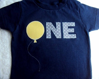 One Year Old Birthday Shirt, Two Year Old shirt or Four Year old shirt- Birthday Balloon Shirt