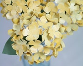 Paper Hydrangeas - Made to Order in your choice of color - 1 FLOWER