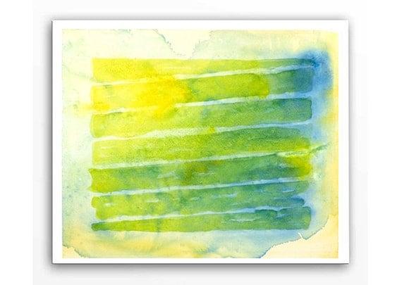 Abstract Art Color Block Original Watercolor by ...