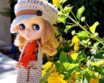 Blythe Doll Clothes, Blythe Clothes, Blythe Outfit, Blythe Pattern, Blythe Hat Pattern, Blythe Crochet Pattern, Blythe Bag, Doll Hats