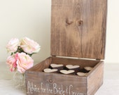 Rustic Guest Book Advice Box With Wood Hearts (Item Number MHD100016) Morgann Hill Designs
