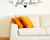 All Because We Fell in Love Quote Vinyl Wall Decal