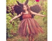 Moors Fairy Tutu Dress Costume, Inspired by Young Maleficent, Lace Tutu Dress, Sleeping Beauty, Woodland Fairy, Halloween Costume, Cosplay