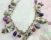 Purple Seas Charm Bracelet