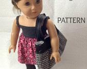 PATTERN Doll Sized Weekender Tote Bag