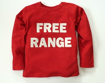 FREE RANGE Shirt : Farm Top, Boy Top, Girl Top, Outdoors