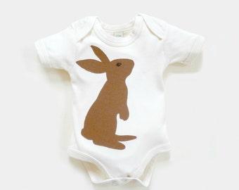 Organic Bunny Bodysuit :  Easter Baby Bodysuit,  Baby Shower Gift, Organic Baby, New Baby Gift