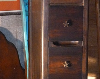 Hey Handsome D E C O Bedside Table PAIR Available Vintage Poppy Cottage Painted Furniture Custom PAINT to ORDER
