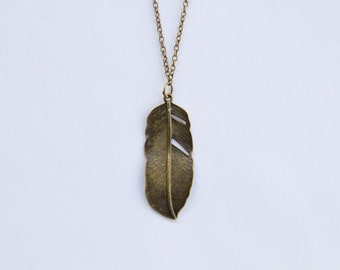 Dreams on the Wind, Feather Necklace