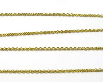 2 MM. Brass Chain Findings (1 meter)