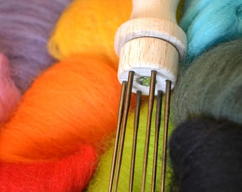 6-Needle Felting Needle Holder -- Needle Felting