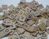 Scrabble Tiles - 50 Assorted Pieces