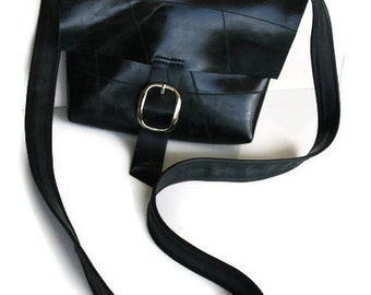 HOLIDAYSALE Medium Size Traveler Messenger Bag - Recycled Rubber Shoulder Bag