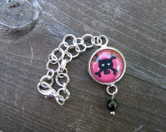 Black Skull Doll Necklace for Blythe, Pullip, Dal, Monster High, Barbie, BJD etc