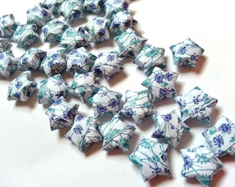 Origami Lucky Stars - Blue Floral (custom orders available)