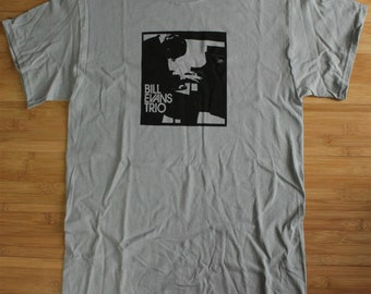 Bill Evans Trio Jazz Shirt Piano American Apparel T-shirt all sizes