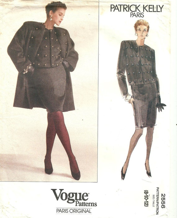 1990 Patrick Kelly suit and coat pattern - Vogue 2556