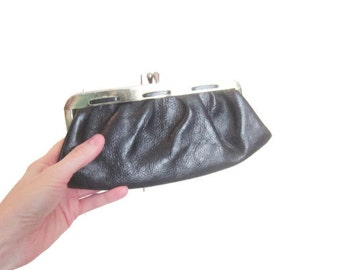 Vintage Pebbled Leather clutch