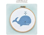 Whale Cross Stitch Pattern Instant Download