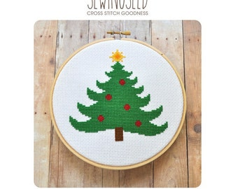 Christmas Tree Cross Stitch Pattern Instant Download