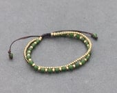 Jade Round Adjustable Bracelet