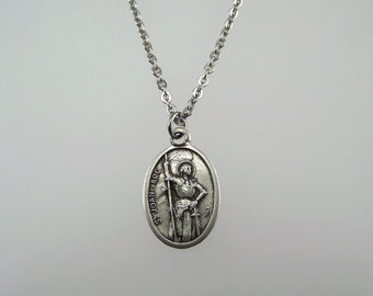 Saint Joan of Arc Medal Necklace
