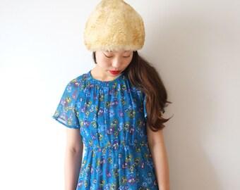 Bondi blue Tokyo Style, vintage flower dress, XS