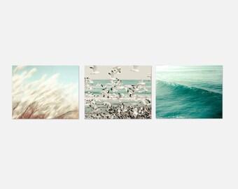 SALE, Beach Photography, Blue, White, Bathroom Wall Art, Pastel, Beach Decor, Ocean Prints, Powder Room Art
