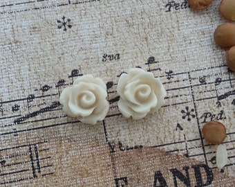 Flower Plugs Gauges Taupe Roses