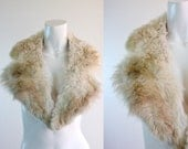 c1950's Genuine Fur Collar Stole Collar