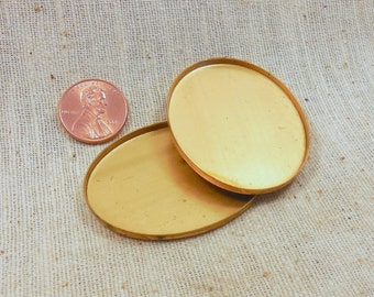 Large Vintage Oval Bezel for Cabochon or Photo 38x49 mm (3) Victorian, Collage