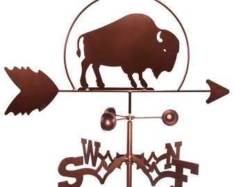 Hand Made Bison Buffalo Weathervane NEW